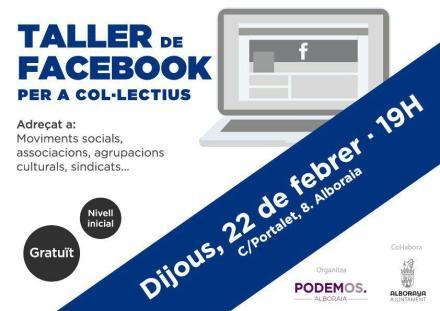 Taller de Facebook per a col-lectius