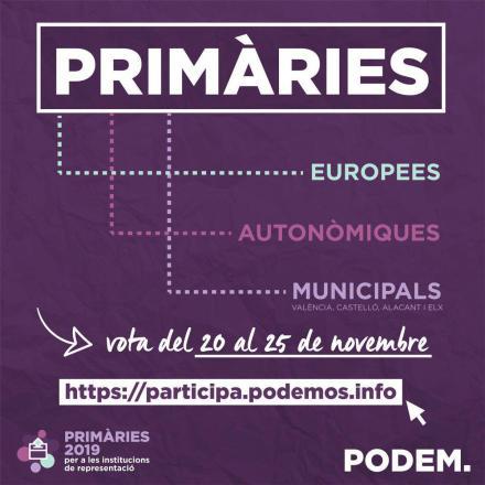 foto votació primàries